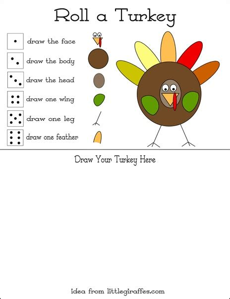 Printable Turkey Game | games to play on thanksgiving day turkey games