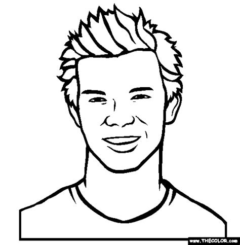 famous actor coloring pages page 1