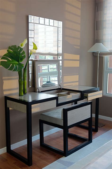 Modern Vanity Chairs For Bathroom by Image Of Modern Vanity Makeup Table Furniture