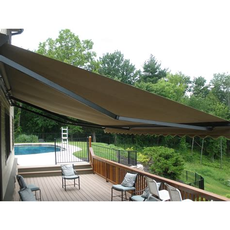 10 ft awning aleko retractable 10 x 8 patio awning 10ft x 8ft 3m x
