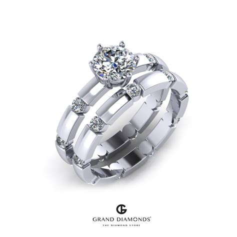 engagement wedding ring combo 0 76cts engagement wedding ring combo grand diamonds