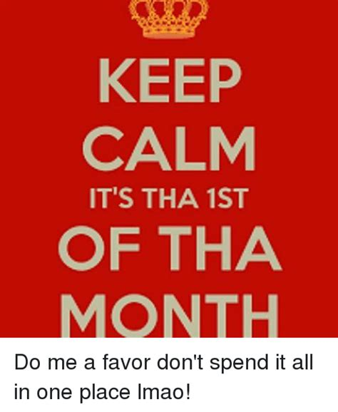 First Of The Month Meme - 25 best memes about 1st of tha month 1st of tha month memes