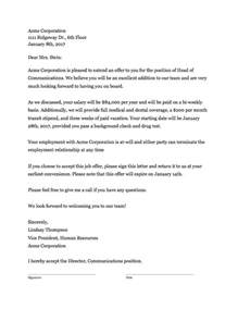 offer letter template free offer letter template that works clicktime