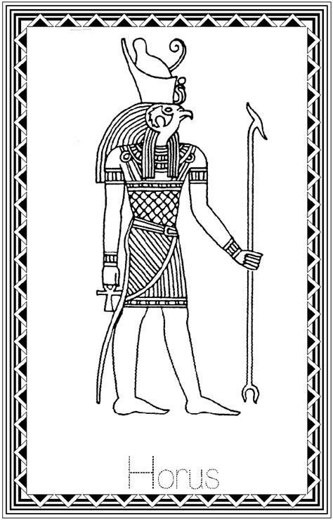eye of horus coloring page horus colouring pages