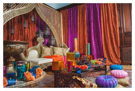 Moroccan Inspired Decor | moroccan inspired sangeet decor partyland md wedding
