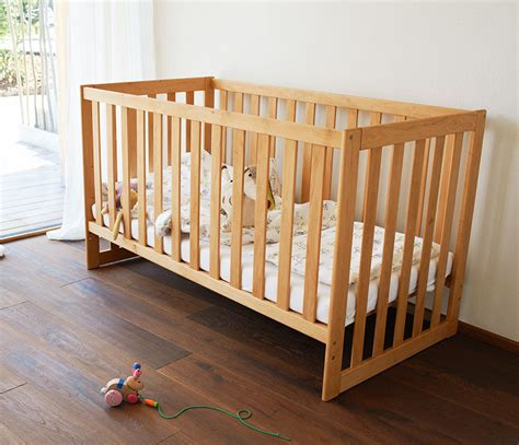banister protection for babies bed baby solid wood babies bed from team 7