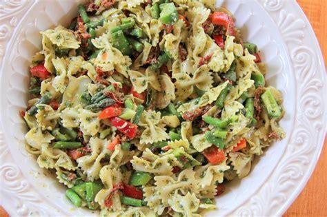 pasta salad pesto lemon basil pesto pasta salad in a southern kitchen
