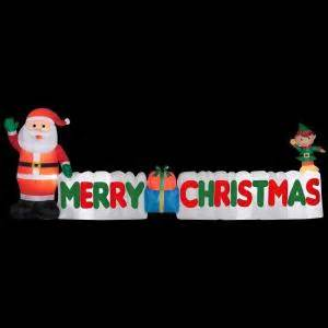 gemmy  ft long inflatable merry christmas sign   home depot