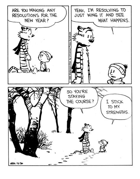 calvin and hobbes new years resolution a new regulation for the publishing indu by calvin trillin