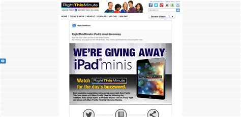 Right This Minute Ipad Giveaway - rightthisminute com win rightthisminute ipad mini sweepstakes