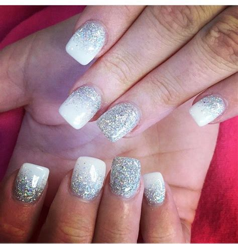 nail designs images best 25 white glitter nails ideas that you will like on