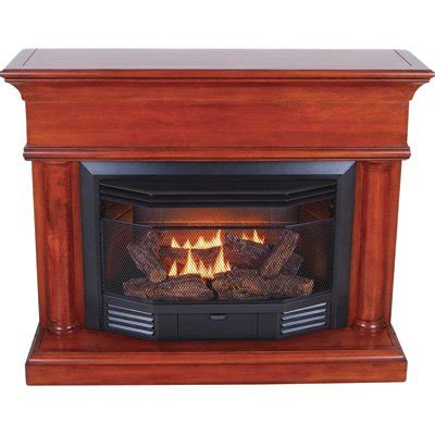 procom dual fuel vent free fireplace with corner