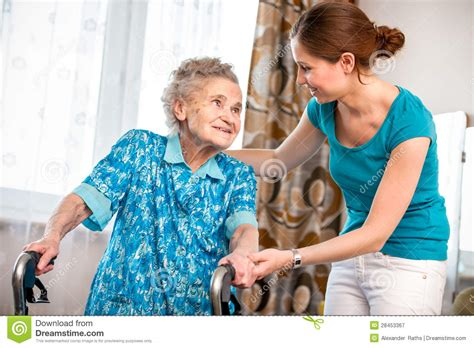 home care stock image image  indoors aging sitting