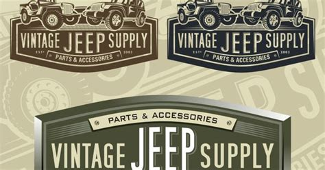 vintage jeep logo vintage jeep supply winning logo design logo