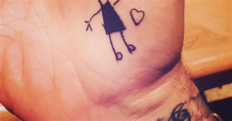 beckham palm tattoo harper s drawing inspired tattoo on david beckham s