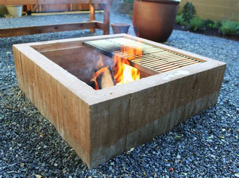 Concrete Firepit Concrete Pit Table Pit Design Ideas