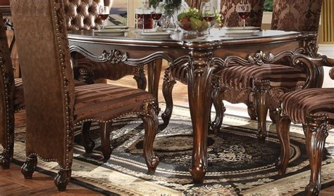 brussels traditional formal dining room set 9 piece w versailles cherry oak finish 120 quot formal dining room table