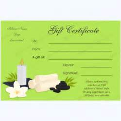 Free Spa Gift Certificate Template Printable by Gift Certificate 33 Word Layouts