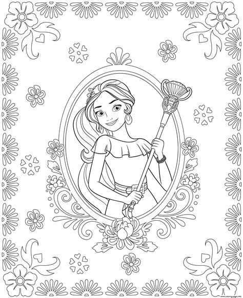 printable coloring pages elena of avalor elena of avalor colouring page coloring pages printable