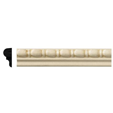 Home Depot Decorative Trim Ornamental Mouldings 5 16 In X 11 16 In X 96 In White Hardwood Panel Colonial Moulding 40