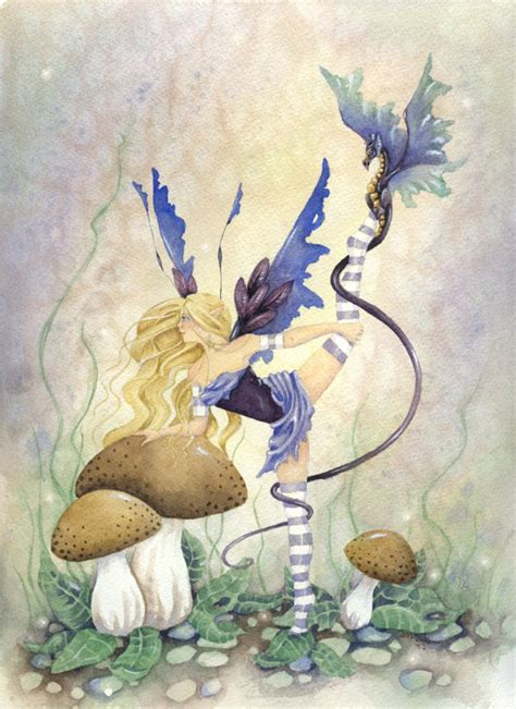 items similar to fairy art original watercolor painting