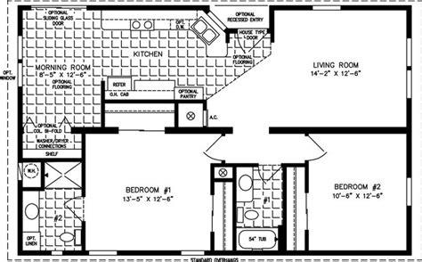 Small Home Floor Plans The Tnr 4423b Manufactured Home Floor Plan Jacobsen