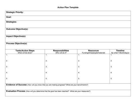 45 free action plan templates corrective emergency
