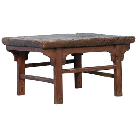 antique elm side table or small coffee table