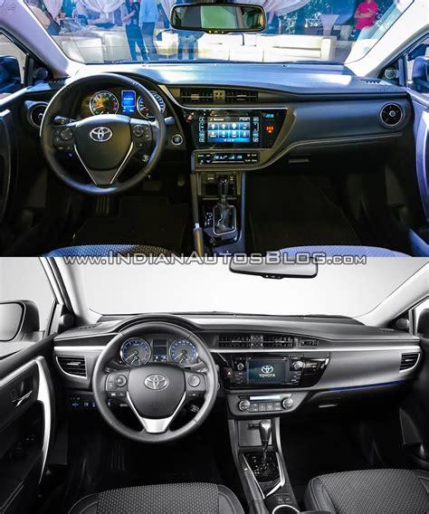 toyota corolla 2017 interior 2016 toyota corolla facelift vs older model old vs new