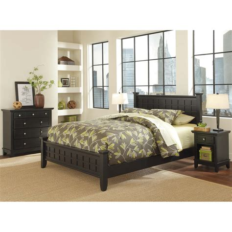 shop home styles arts and crafts black queen bedroom set