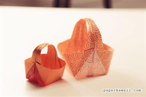 How To Make A Origami Easter Basket - origami easter basket tutorial paper kawaii
