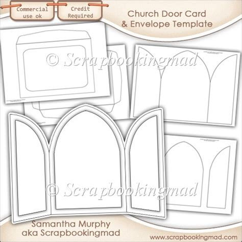 church id card template church door card envelope template commercial use 163 3