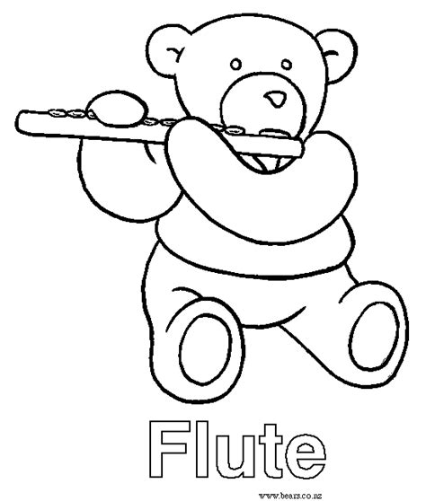 flute printable coloring pages