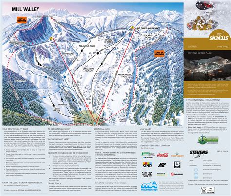 mountain map pass washington ski resort trail ski map