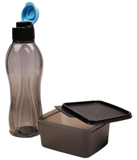 Tupperware Xtreme Lunch Set Box Bottle tupperware black lunch box and water bottle set