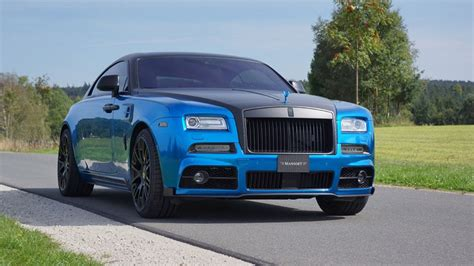 roll royce blue dub magazine black and blue rolls royce wraith by mansory