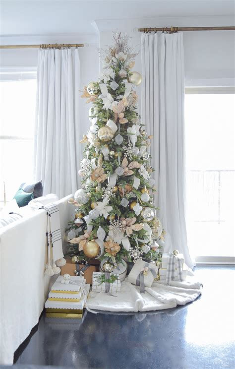 decorate xmas tree modern apartment glam living room tour tips for easy decorating zdesign at home