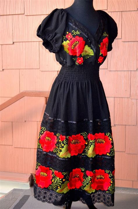 Handmade Mexican Embroidered Dresses - 17 best ideas about mexican dresses on mexican