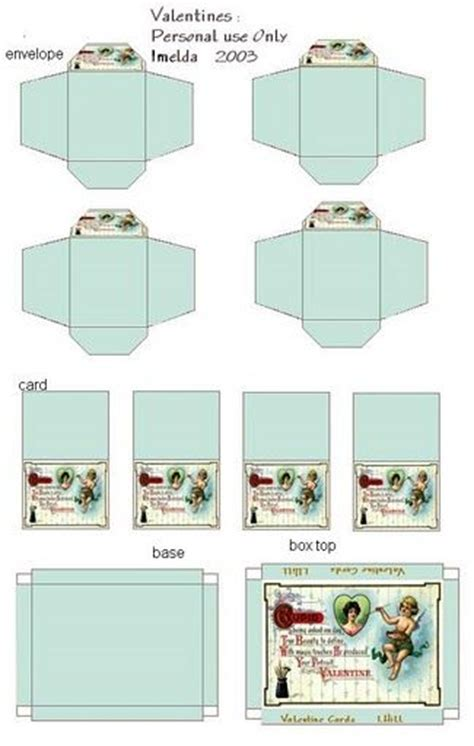 cards dollhouse template 17 best images about printable miniature boxes on