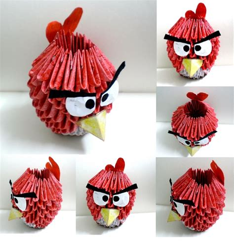 Angry Birds Origami - iapdesign photoshop tutorials