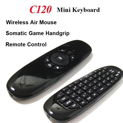 Sealed New C120 2 4g Air Mouse Wireless Keyboard Remote For An 2 4g wireless fly gaming air mouse c120 keyboard 3d