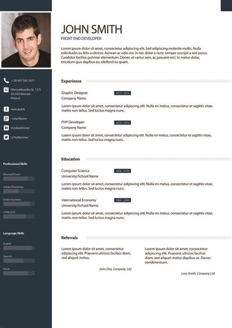 Free Awesome Resume Templates by 17 Best Images About Cv Exles On Free