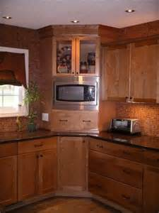 Microwave In Corner Cabinet A Built In Microwave And Glass Doors Make Great Use Of The