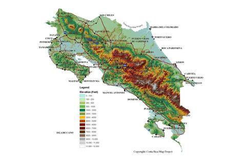map of us cities with major airports large detailed topography map of costa rica with roads