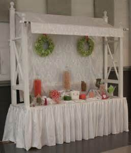 Candy Buffet Canopy by Details Party Rental Summer Wedding Texas Pink Green