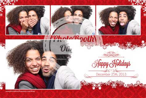 photo booth christmas layout holiday flakes beautiful christmas photo booth templates