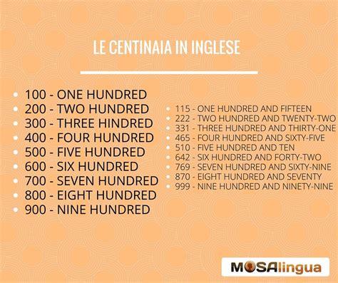 numeri in lettere inglese numeri in inglese come contare da 1 a 1 miliardo