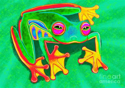 Colorful tree frogs colorful tree frog painting