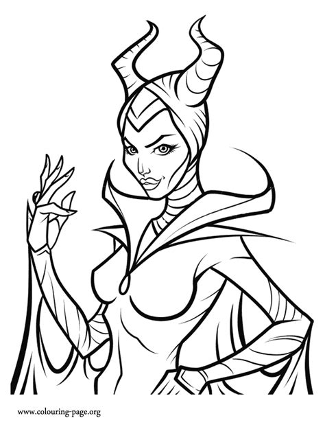 Maleficent Is A Disney S Villain And A Character In The Disney Villain Coloring Pages