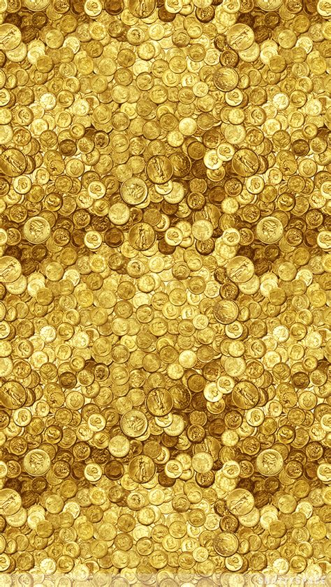 gold coins iphone wallpaper